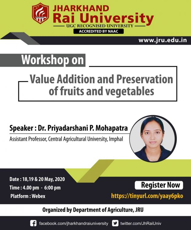 Workshop Agriculture 18-19 and 20 May