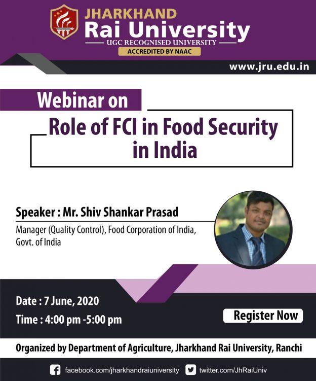 JRU Webinar - food security in india