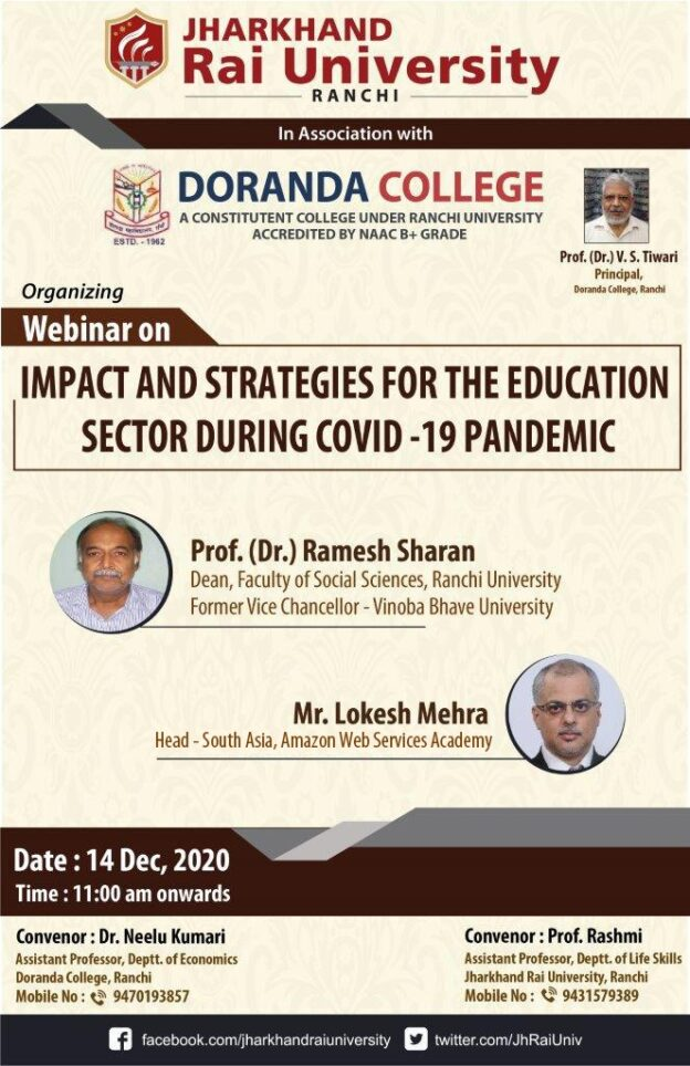 Webinar on impact and strategies for the education sector during COVID-19