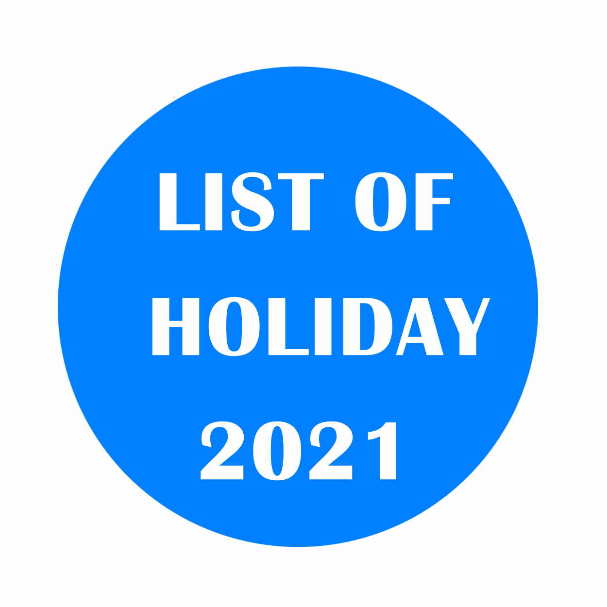 List of holiday 2021