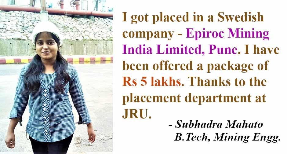 B.Tech Mining Subhadra Mahato Wbsite